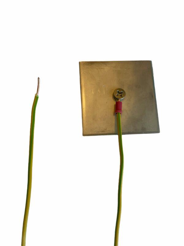 RVS plaat met kabel